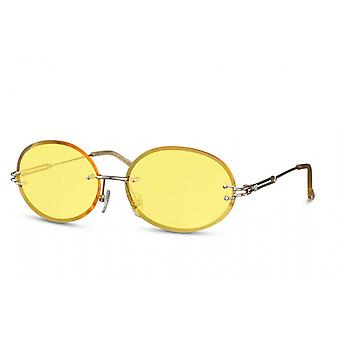 Sunglasses Unisex oval rimless cat. 2 gold/yellow