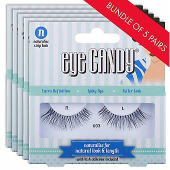 Eye Candy 50's Style False Eyelashes - 003 Fake Lashes - 5 Pairs with Lash Glue