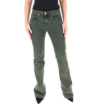 L'autre Koos B15603666080u516 Dames's Green Cotton Jeans