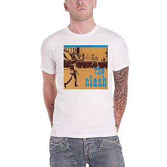 The Clash T Shirt Black Market Band Logo new Official Mens White