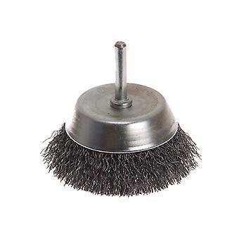 Faithfull Wire Cup Brush 75mm x 6mm Shank 0.30mm FAIWBS75