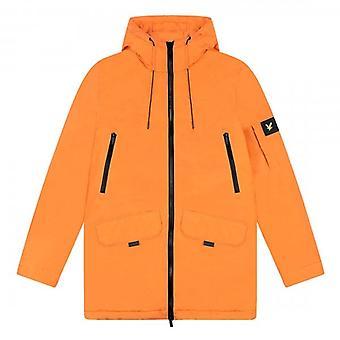 Lyle & Scott Orange Zip Detail Parka Coat JK1325V