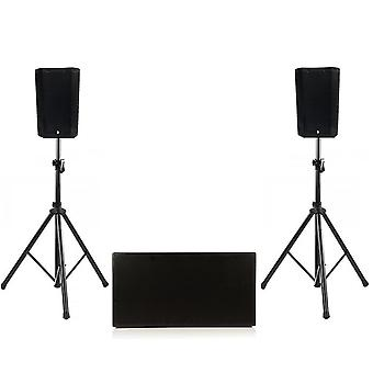 Big gig rig 45 - compact active 1600w rms 8 tops and a twin 12 active subwoofer pa system with bluetooth
