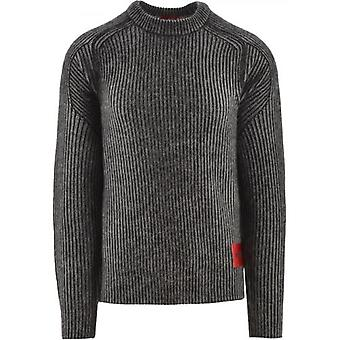 HUGO Black Shair Knitted Jumper