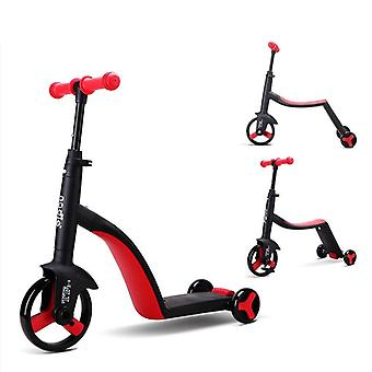 Folding Kick Tricycle Bicycle Scooter For Kids Over 3 Yrs Old