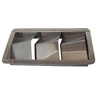 Louvered Vent Stainless Steel Yacht 3 Slots
