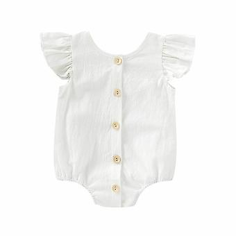 Summer Clothing Bodysuits Pure Ruffles, Fly Short Sleeve, Jumpsuit, Tops