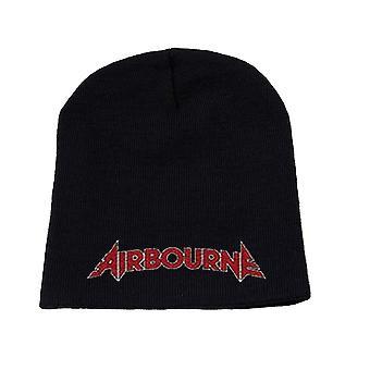 Airbourne Beanie قبعة كاب كلاسيك الفرقة الشعار الرسمي الأسود الجديد