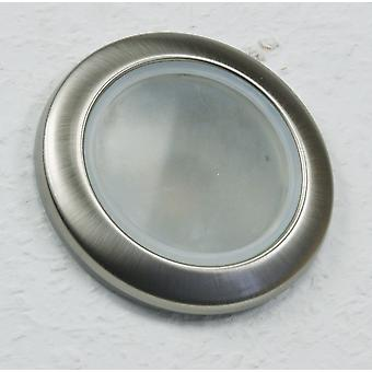 Ceiling recessed spotlight for round wet rooms, 92mm, IP 44, chrome-matt