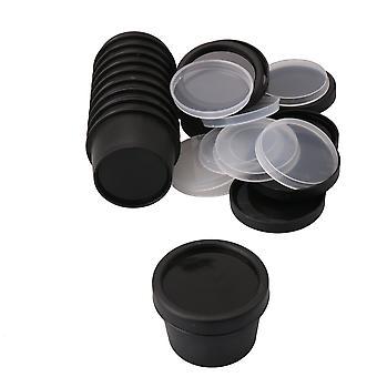 10 piezas redondas Tarros cosméticos para lápiz labial Loción Negro
