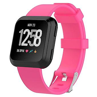 "Replacement Silicone Band Strap Bracelet for Fitbit Versa 2/Versa Lite/Versa[Small Fits Wrist 5.5"" - 6.9"",Hot Pink]"