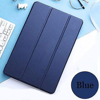 Tablet Case, Leather Smart Sleep Wake Funda Trifold Stand Solid Cover Capa