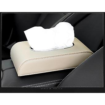 Car Tissue Box Cover, Boxes Holder, Pu Leather, Towel Inside Paper Block Type