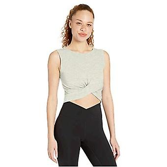 Brand -  Core 10 Women's (XS-3X) Pima Cotton Blend Knot Front Cropped ...