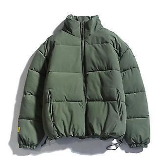 Men's Warm Parkas Streetwear Cotton Coats Slim Male Jackets Windproof Padded
