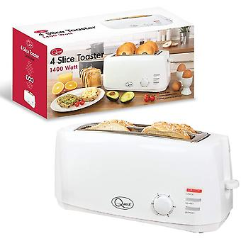 Quest 35049 4-Slice Toaster Extra Wide Slots Cool Touch, 1400W, White