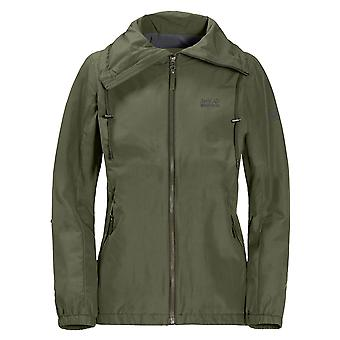 Jack Wolfskin Donna Westwood Giacca Outdoor Cappotto Khaki 1305381 5052