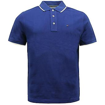 Tommy Hilfiger Golf Mangas Curtas Simples Masculinos Camisa Polo Azul TM416P-E 12 A66C