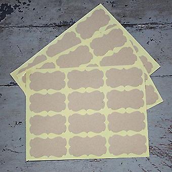 Autocollants de forme orné de Kraft brun clair x 36-mariage / Craft / Scrapbooking