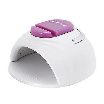 Portatile us / eu plug intelligent 4-gear timing 42 led doppia sorgente luminosa perline uv nail lampada con supporto per cellulare