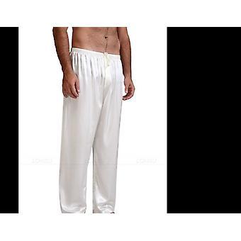 الصيف الجديد فضفاضة الساتان السراويل النوم قيعان ملابس النوم الحرير الجليد بيجامة المنزل