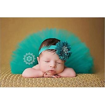 Baby Tutu Skirt And Flower Headband Photography Fluffy