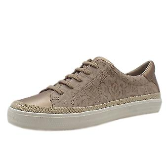 Chatham Margot Stylish Lace-up Trainers In Sand