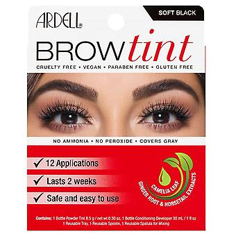 Ardell Brow Tint Soft Black - Last Up to 2 Week - Covers Gray - 30 ml