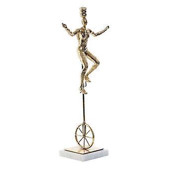Figura decorativa DKD Home Decor Metal Resina Mármol (17 x 10 x 42 cm)