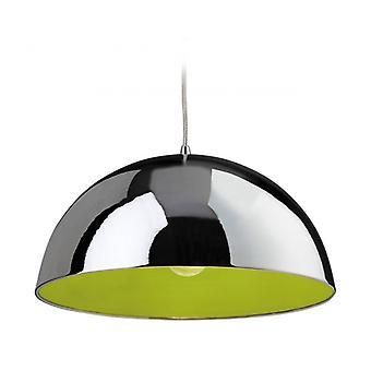 Lámpara Colgante Bistro, Cromo / Verde