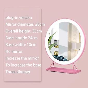 سطح المكتب بلوتوث ثلاثة ألوان أدت ضوء مرآة تجميلية خاصة مع مرآة مصباح مكتب متعدد الوظائف الخفيفة