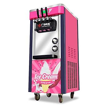 220v Three-color Commercial Desktop Soft Ice Cream Machine Vertical Ice Cream