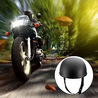 Moottoripyörä puoliksi avoin kasvokypärä matta musta suojakuori skootteripyörälle