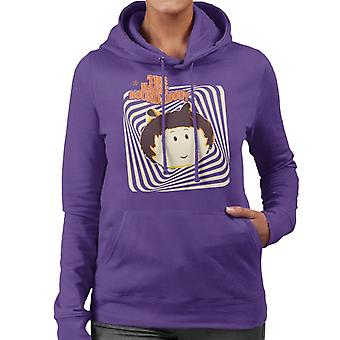 The Magic Roundabout Margote Monochrome Ray Lines Women's Hooded Sweatshirt