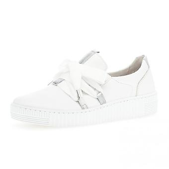 Gabor Waltz Lace Up Sport Sneakers In White