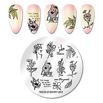 Nail Art Stamping Metallic Polish, Plate Printing, Varnish Decoration