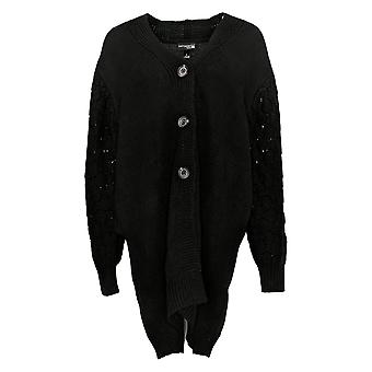 """Antthony Women's Sweater """"Glorious Gifts for Her"""" Textured Black 679250"""