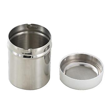 Stainless steel kitchen seasoning pot for cocoa and pepper duster