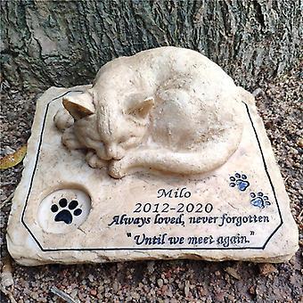 Memorial Stone Pet Gravmarkörer Trädgårdssten