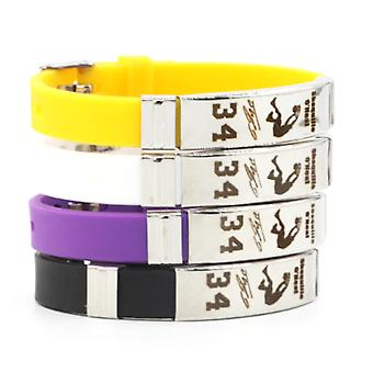 4pcs/lot Sharks Shaquille O'neal Signature 34 Bracelet Sports