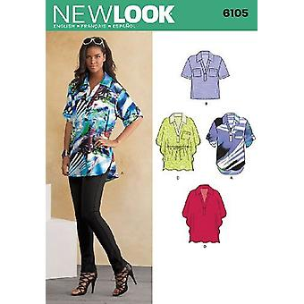 New Look Sewing Pattern 6105 Misses Tunic Top Size 4-16 Euro 30-42