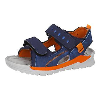 RICOSTA Washable Sandal In Nautic & Neon Orange