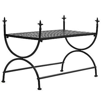 vidaXL bench vintage style metal 83 x 42 x 55 cm black