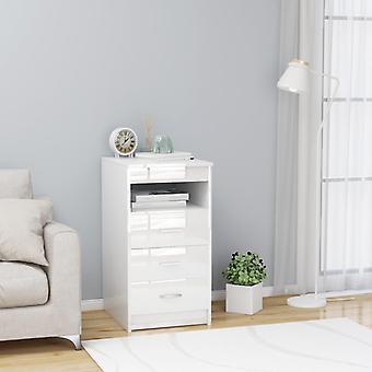 vidaXL Sideboard mit Schubladen Hochglanz-Weiß 40×50×76 cm Spanplatte