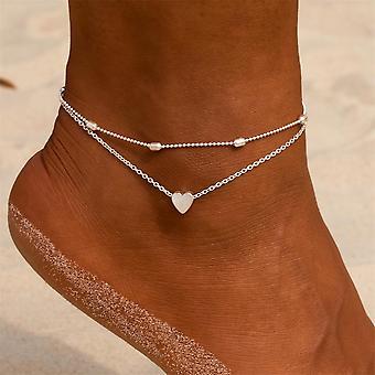 Summer Beach Anklets On Foot Ankle Bracelets