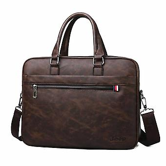 Men Briefcases, High-quality 14'laptop Office Bag