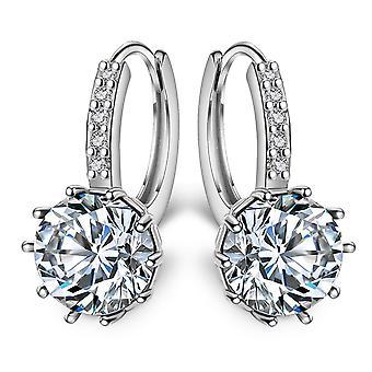 Vintage Earrings, Crystal Cz Bling Drop Earring,, Wedding Jewelry
