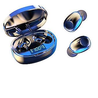 Bezprzewodowe słuchawki do anulowania noice tws bluetooth 5.0 mini wkładki douszne z stereofonicznym basem i wyświetlaczem zasilania LED