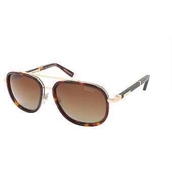 ZILLI Solglasögon Titanacetat Läder Polariserat Frankrike Handgjord ZI 65018 C03