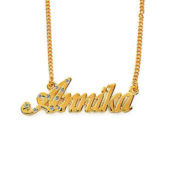 """L Annika - 18-carat Gold Plated Necklace, Adjustable Chain of 16""""- 19"""", in Regal Packaging"""